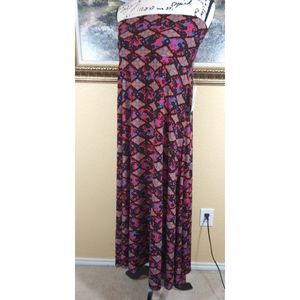 LuLaRoe Maxi Multi Color Skirt XL